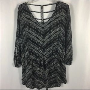 NEW Maurices Aztec Print Boho Top / Blouse